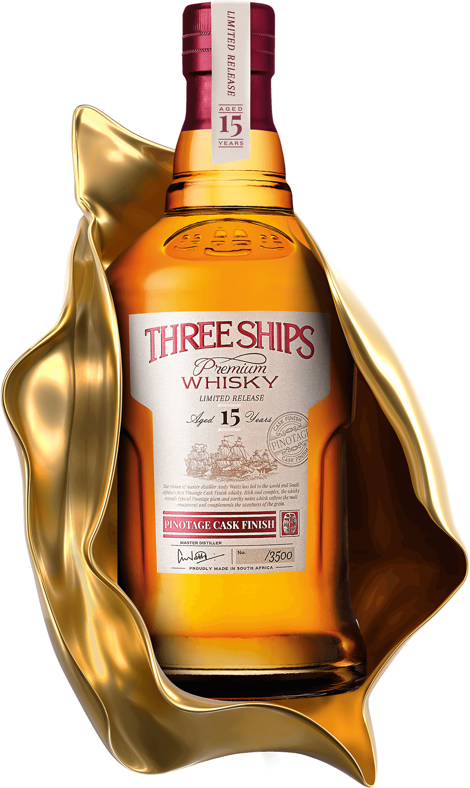 THREE SHIPS WHISKY 15 YEAR OLD PINOTAGE CASK FINISH