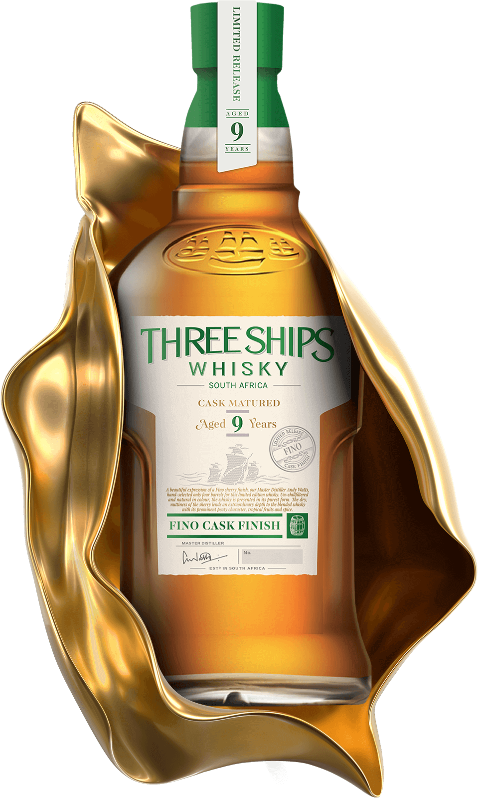 THREE SHIPS WHISKY 9 YEAR OLD BLEND FINO CASK FINISH